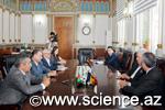 Moldova Elmlər Akademiyasının prezidenti ilə görüş keçirildi