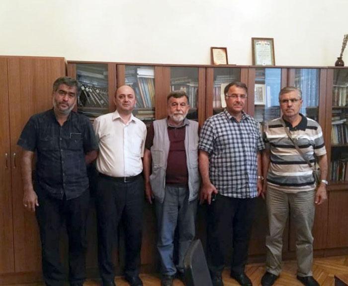 Türkiyəli professor AMEA-nın Əlyazmalar İnstitutunda olub