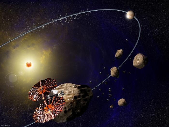 """На этой неделе стартует 12-летняя миссия НАСА """"Lucy"""" к троянским астероидам Юпитера"""