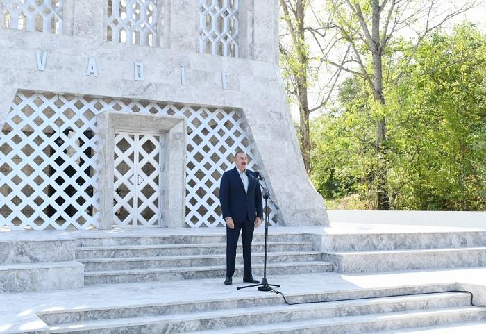 Prezident İlham Əliyev və birinci xanım Mehriban Əliyeva Şuşada Vaqif Poeziya Günlərinin açılışında iştirak ediblər