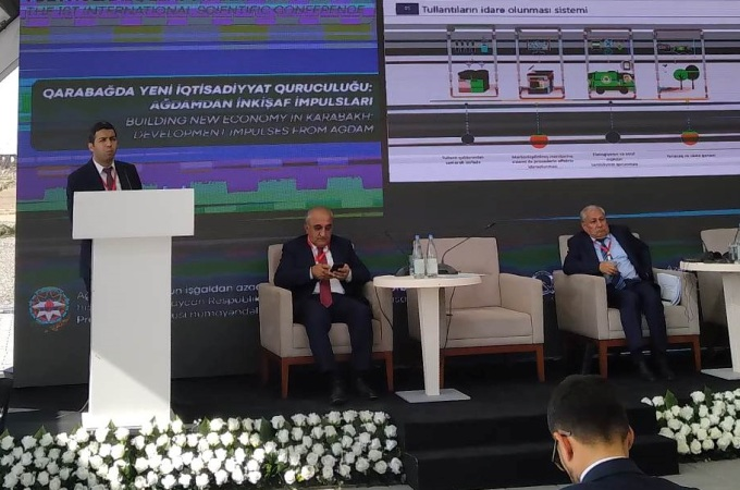 """""""Qarabağda yeni iqtisadiyyat quruculuğu: Ağdamdan inkişaf impulsları"""" mövzusunda beynəlxalq konfrans keçirilib"""