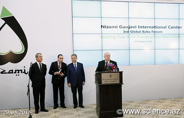 """""""Azərbaycan Respublikasının Nizami Gəncəvi adına Qızıl medalı"""" təqdim olundu"""