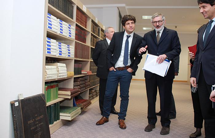 Italian Ambassador to Azerbaijan visited the Central Scientific Library