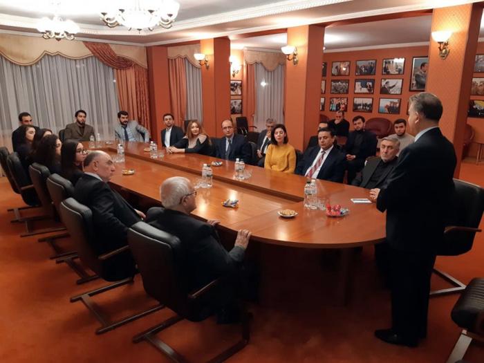 AMEA prezidentinin başçılıq etdiyi nümayəndə heyəti Kiyevdə səfərdədir