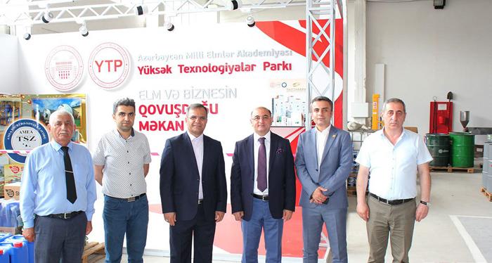 Qərbi Azərbaycan Elm və Texnologiyalar Parkının İdarə Heyətinin sədri AMEA YT Parkda olub