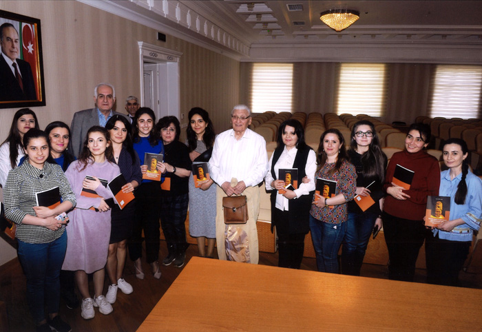 "Research Center of ""Azerbaijan National Encyclopedia"" held a meeting with  scientist-historian"
