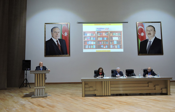 Şəkidə Nəsiminin 650 illiyinə həsr olunan beynəlxalq elmi konfrans keçirilib