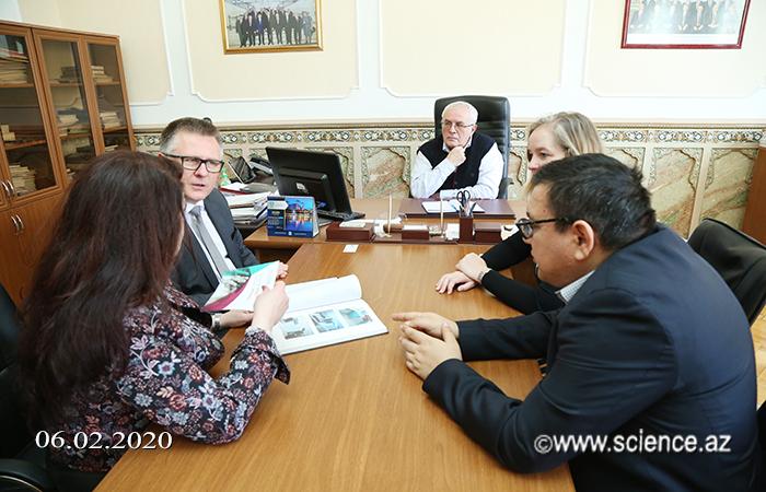 Akademik İbrahim Quliyev COST Assosiasiyasının nümayəndələri ilə görüşüb