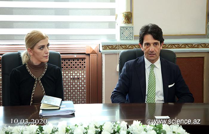 Президент НАНА встретился с послом Италии в нашей стране